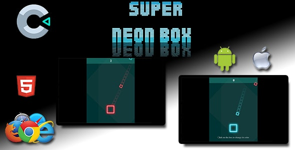 Neon Square - HTML5 Mobile Game - 1