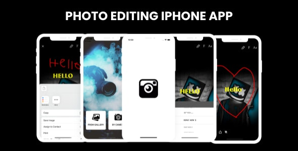 Photo Editing -  iPhone App - CodeCanyon Item for Sale