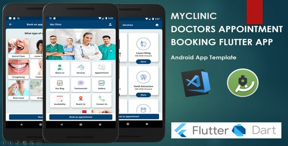 Myclinic - Doctors Appointment Booking App Template | Flutter
