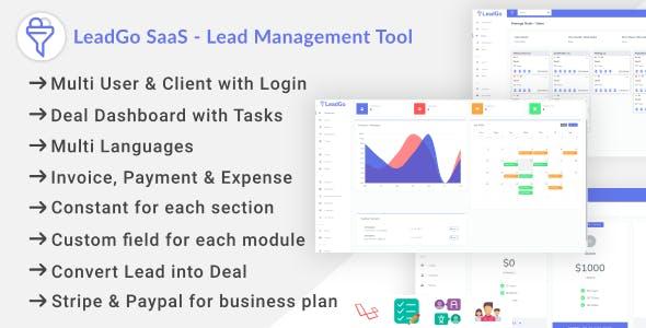 LeadGo SaaS - Lead Management Tool