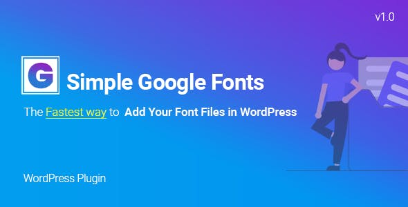 Simple Google Fonts | Web Fonts Manager WordPress Plugin