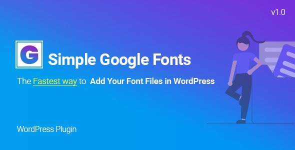 Simple Google Fonts   Web Fonts Manager WordPress Plugin - CodeCanyon Item for Sale