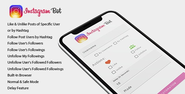 Instagram Bot for Android - Increase your followers - CodeCanyon Item for Sale