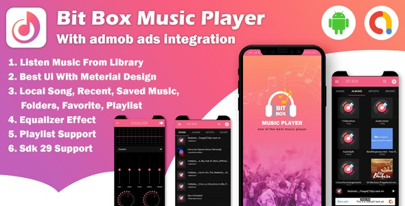 Android Bit Box Music Player - with admob ads - CodeCanyon Item for Sale
