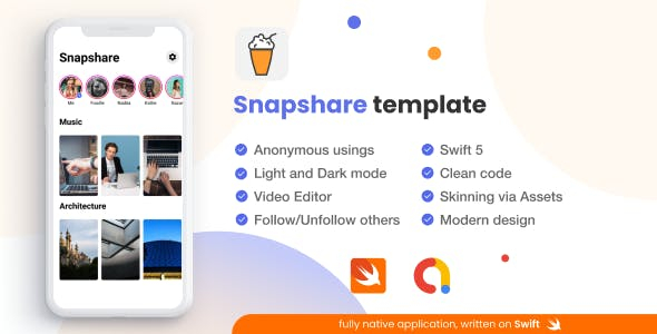 Snapchat-like video story sharing network Snapshare [iOS, Admob]