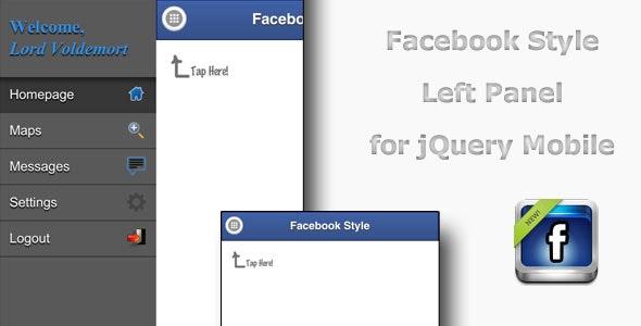 jQuery Facebook Side Menu Plugin - CodeCanyon Item for Sale