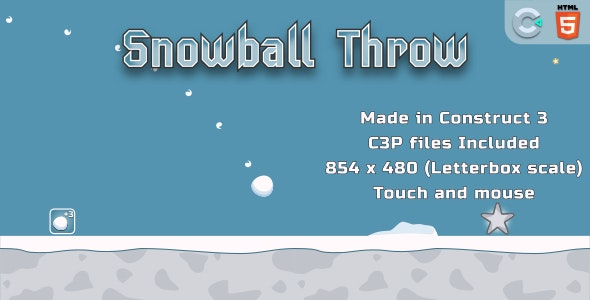 throwSnowball - HTML5 Casual Game - CodeCanyon Item for Sale
