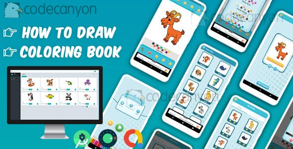 Drawing : Learn to Draw and Coloring book with admin panel ready to publish