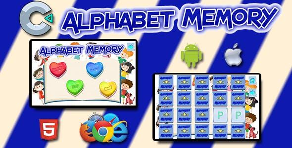 Alphabet Memory - HTML5 Mobile Game
