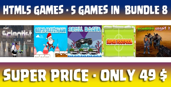 Casual 5 games - Bundle 8 - CodeCanyon Item for Sale