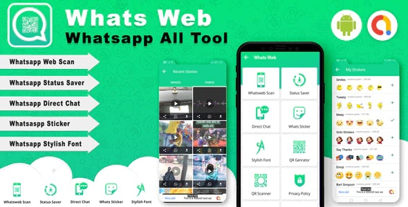 Android Whats Web - Whatsapp all tools App (Version -2) - CodeCanyon Item for Sale