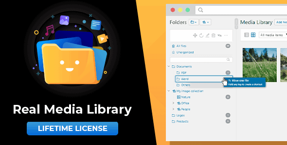 WordPress Real Media Library: Media Library Folder & File Manager for Media Management