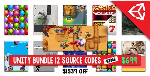 Super Bundle of 12 Premium Unity Games- Save $1539 for a Super bundle of 12 premium Unity source cod
