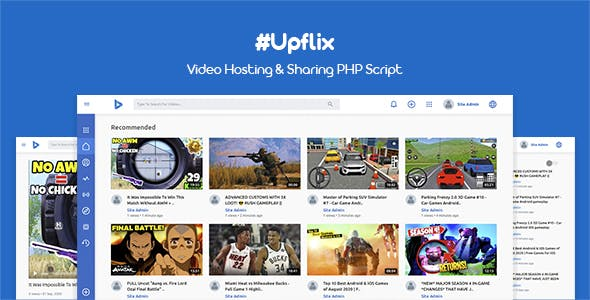 Upflix - Video Hosting & Sharing PHP Script