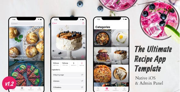 Ultimate Recipe App Template for iOS