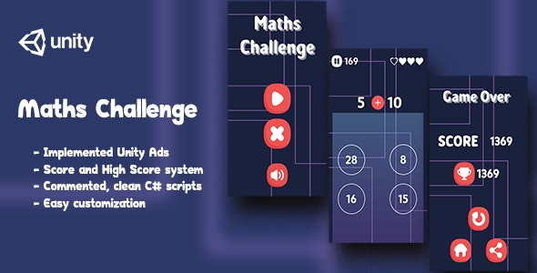 Maths Challenge - Complete Unity Game - CodeCanyon Item for Sale