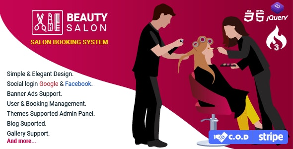 Salon Booking Management System - CodeCanyon Item for Sale