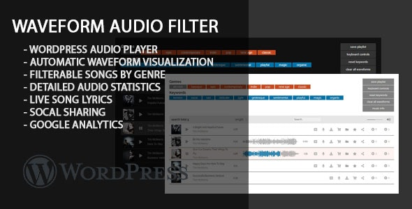 Waveform Audio Filter - CodeCanyon Item for Sale