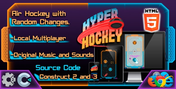 Hyper Hockey - HTML5 - Casual Game - Local Multiplayer - CodeCanyon Item for Sale