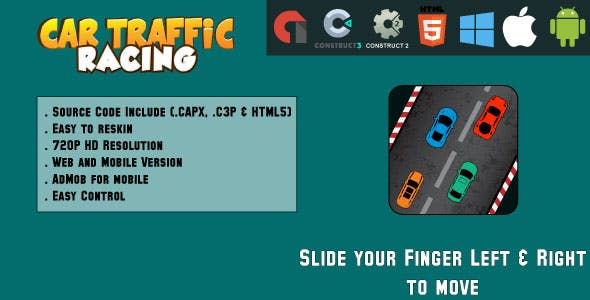 Car Traffic Racing - HTML5 Game - Web & Mobile + AdMob (CAPX, C3p and HTML5)
