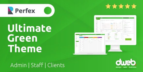 Ultimate Green Theme - Perfex Theme CRM - CodeCanyon Item for Sale