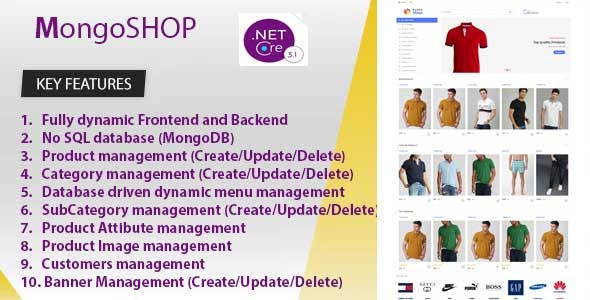 MongoSHOP  Ecommerce Business Management System. Build ASP.NET CORE 3.1.3 and MongoDB