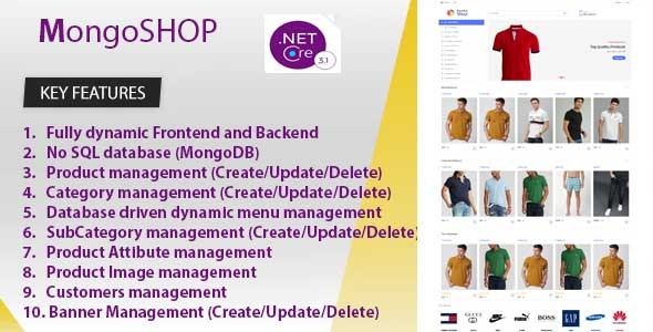 MongoSHOP  Ecommerce Business Management System. Build ASP.NET CORE 3.1.3 and MongoDB - CodeCanyon Item for Sale