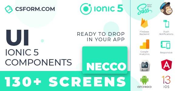 Necco | Ionic 5 / Angular 10 UI Theme / Template App | Multipurpose Starter App