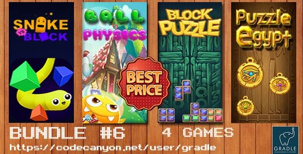 Bundle #6 - 5 Games (Admob + GDPR + Android Studio) - CodeCanyon Item for Sale