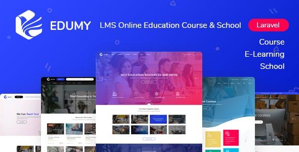 Edumy - LMS Online Education Course & School Management Laravel System