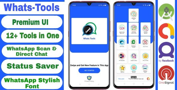 Whats Tools : All In One WhatsApp Tools App + Admob & Facebook Ads