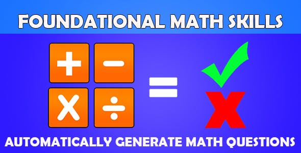 Math Skills (CAPX and HTML5) Auto Generate Math Questions
