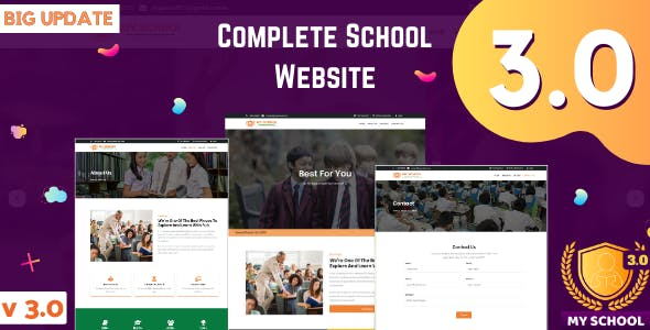 Complete School Website with Online Admission and Admin Panel
