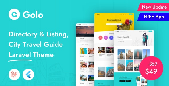 Golo - Directory & Listing, City Travel Guide Laravel Theme - CodeCanyon Item for Sale