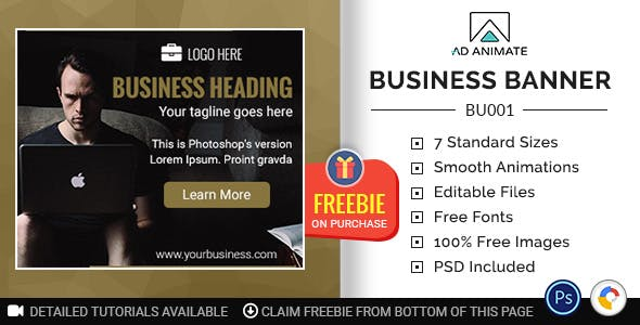Business Banner - HTML5 Ad Template (BU001)