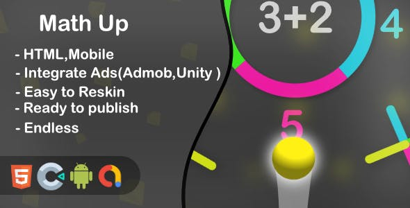 Math Up - HTML5 Game and Mobile (Construct 3)