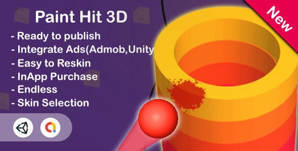 Paint Hit 3D (Unity Game+Admob+iOS+Android)