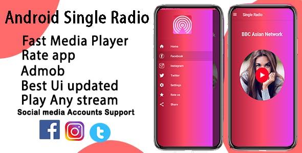 Single Radio Android Online Radio App + Admob