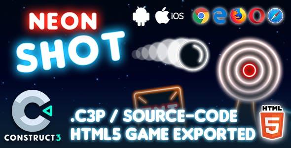 Neon Shot HTML5 Game - Construct 3 Source-code