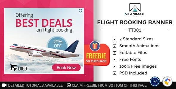 Tour & Travel | Flight Booking Banner (TT001)