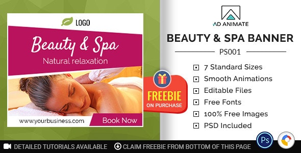 Professional Services Beauty Spa Banner Ps001 By Ad Animate Codecanyon