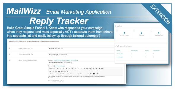 Reply Tracker for MailWizz EMA - CodeCanyon Item for Sale