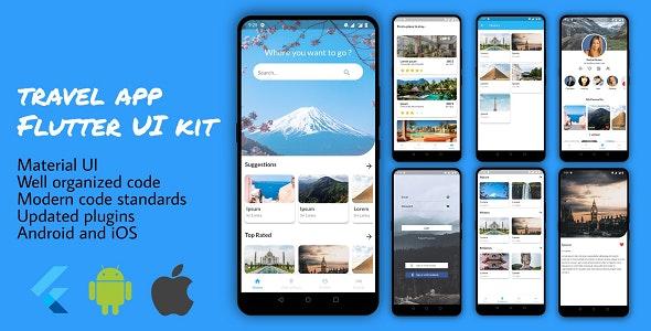 Flutter Travel App for Tourism - CodeCanyon Item for Sale