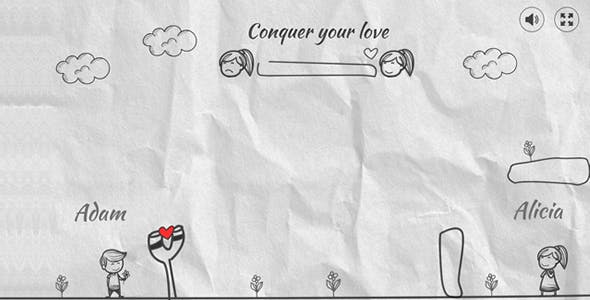 Conquer your love HTML5 Game (Construct 3)
