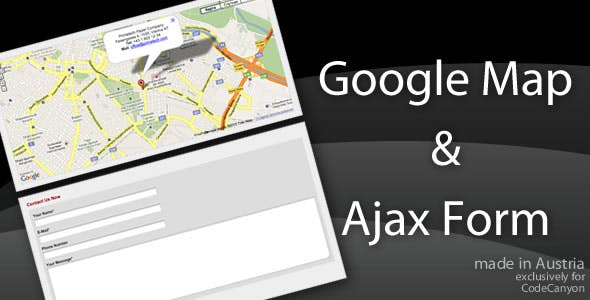 Ajax Contact Form with Google Map Pointer