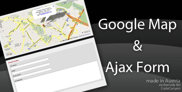 Ajax Contact Form with Google Map Pointer - CodeCanyon Item for Sale