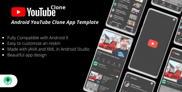YouTube Clone - Android Video Sharing App Template