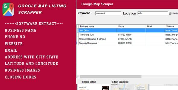 Google Map Scrapper Listing