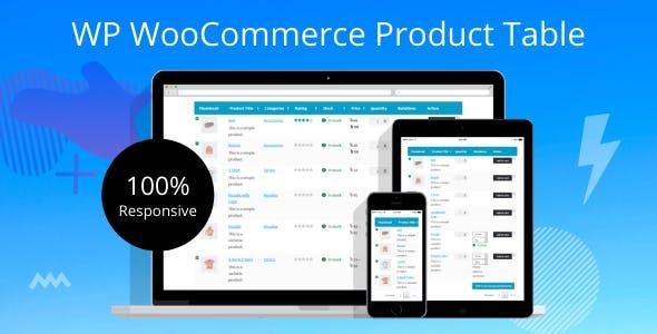 WP WooCommerce Product Table