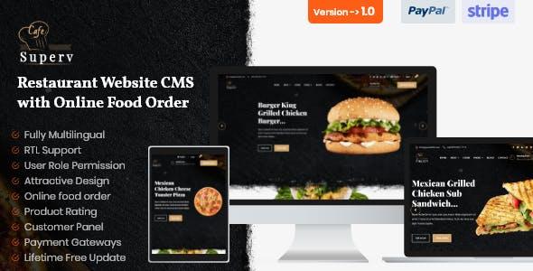 Superv - Restaurant Website CMS & Management System with Food Order